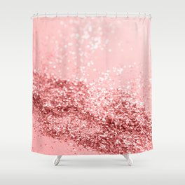 Summer Vibes Glitter #6 #coral #shiny #decor #art #society6 Shower Curtain
