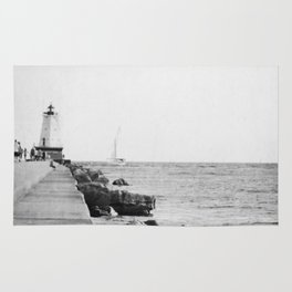 Michigan Lighthouse Rug