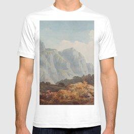 Near Glarus, Switzerland, 1781 by John Warwick Smith T-shirt