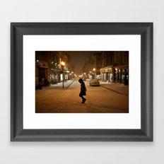 Québec Night Framed Art Print