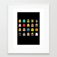 pac man Framed Art Prints featuring pac man by sEndro