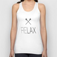 lacrosse Tank Tops featuring Relax Lacrosse LAX by Directapparelco