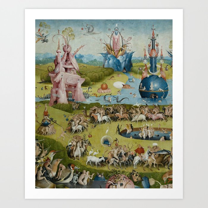 Hieronymus Bosch , The Garden of Earthly Delights , Medieval Oil Painting  Art Print by artexpressiondesign
