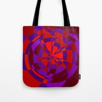 panic at the disco Tote Bags featuring Panic by NaturePrincess
