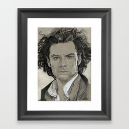 Aidan Turner: Poldark Framed Art Print