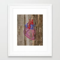 anatomical heart Framed Art Prints featuring Anatomical Heart by Kyle Phillips