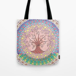 Tree of Life with Mosaic Tote Bag
