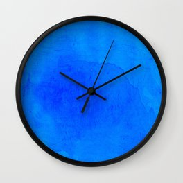 DARK BLUE WATERCOLOR BACKGROUND  Wall Clock