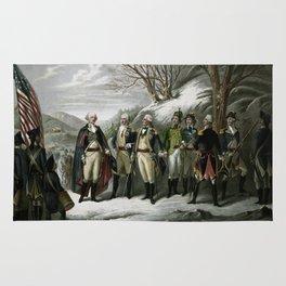 Washington and His Generals Rug