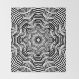 Black-and-White Abstract 20 Throw Blanket