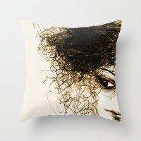 transparent Throw Pillows featuring Transparent by Sofia Karlström