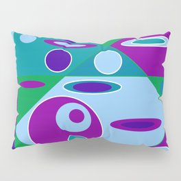 Circles and Ellipses Pillow Sham
