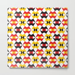 Geometric Pattern 180 (yellow red black) Metal Print