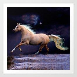 horse galloping Art Print