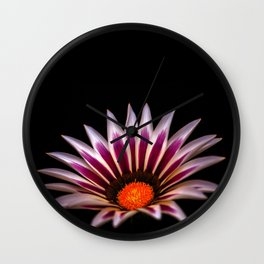 Big Kiss White Flame Flower Wall Clock