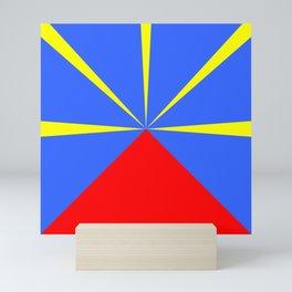 flag of reunion Mini Art Print