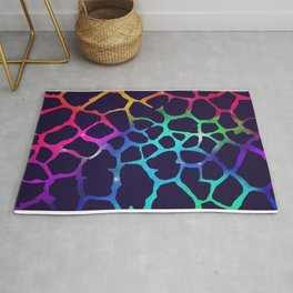 Color Burst: Giraffe Rug