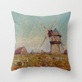 Ferdinand du Puigaudeau - Breton Landscape Throw Pillow