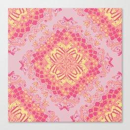 Love Butterfly Pattern Canvas Print