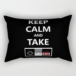 Keep Calm and Take Control Rectangular Pillow