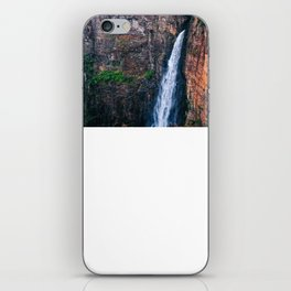 Long Waterfall Coming Out Of A Cliff iPhone Skin