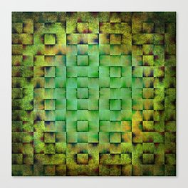 Green woven nature abstract Canvas Print