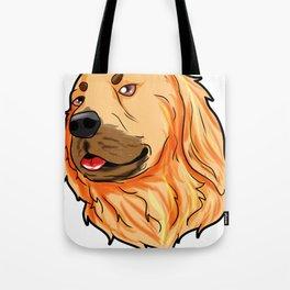 Golden Retriever Christmas Hat Present Dog Doggie Tote Bag