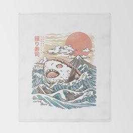 Sharkiri Sushi Throw Blanket