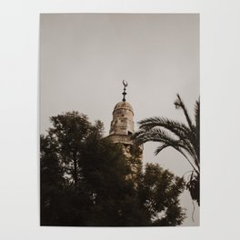 View of the Mosque in Jerusalem, Israel Poster