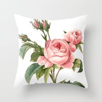 botanical Throw Pillows featuring Botanical by Goga Alexandra