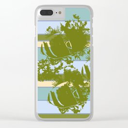 Sea Urchins & Angel Fish Clear iPhone Case