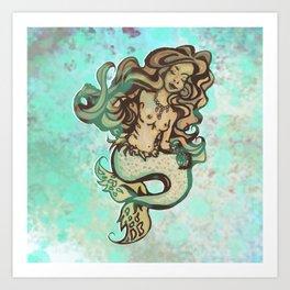 Mermaid Meditation Art Print