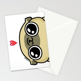 Mochi the pug loves you Stationery Cards