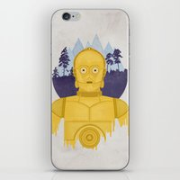 c3po iPhone & iPod Skins featuring C3PO by Robert Scheribel
