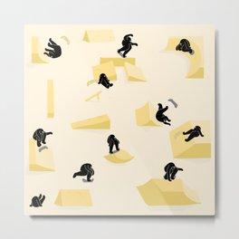 Yellow Skate Park Metal Print