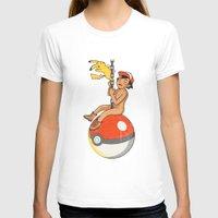 pokeball T-shirts featuring Wrecking Pokeball by KV.Art