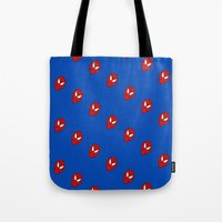spider man Tote Bags featuring Spider.  Man.   by Designs By Misty Blue (Misty Lemons)