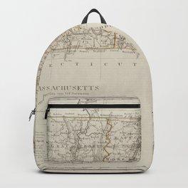 Vintage Map Print - Map of Massachusetts (1797) Backpack