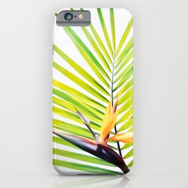 Bird of Paradise and Palm Frond iPhone Case