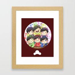 MATSUNO SIBLINGS Framed Art Print