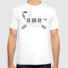 Life is like a piano Mens Fitted Tee White MEDIUM