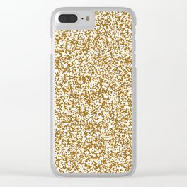 Tiny Spots - White and Golden Brown Clear iPhone Case