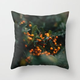Winter Berries in London Throw Pillow