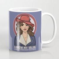 hallion Mugs featuring I Know My Value by Karen Hallion Illustrations