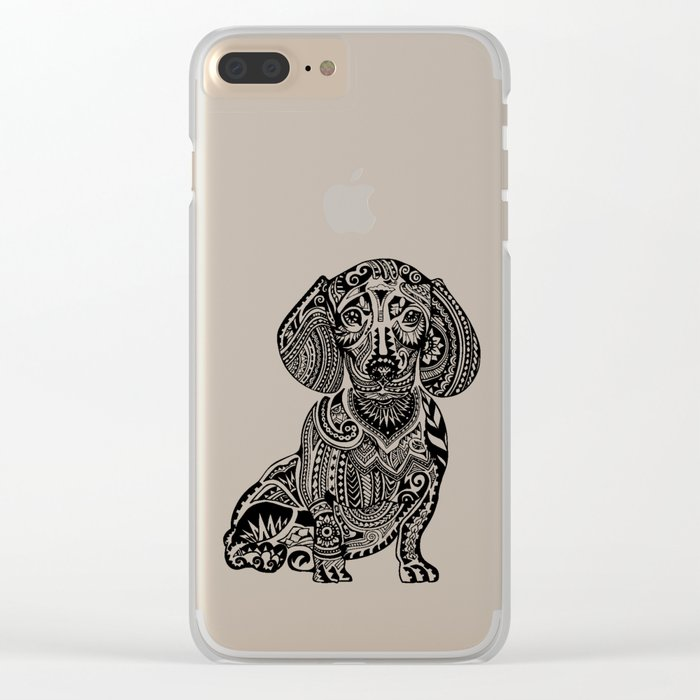 Polynesian Dachshund Clear iPhone Case