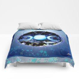 Moon Symbol and Stars Comforters