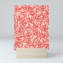 Red Coral Ferns Mini Art Print