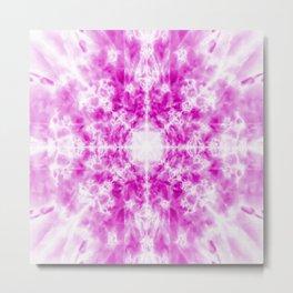 Light pink kaleidoscope pattern Metal Print