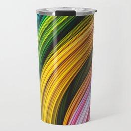 Stranded Strain IV.4 Colorful Abstract Strands Travel Mug
