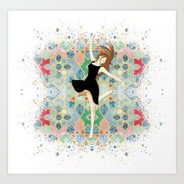 the dancing girl Art Print